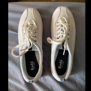 White Keds, micro stretch lace sneakers